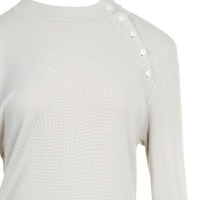 button shoulder detail dress